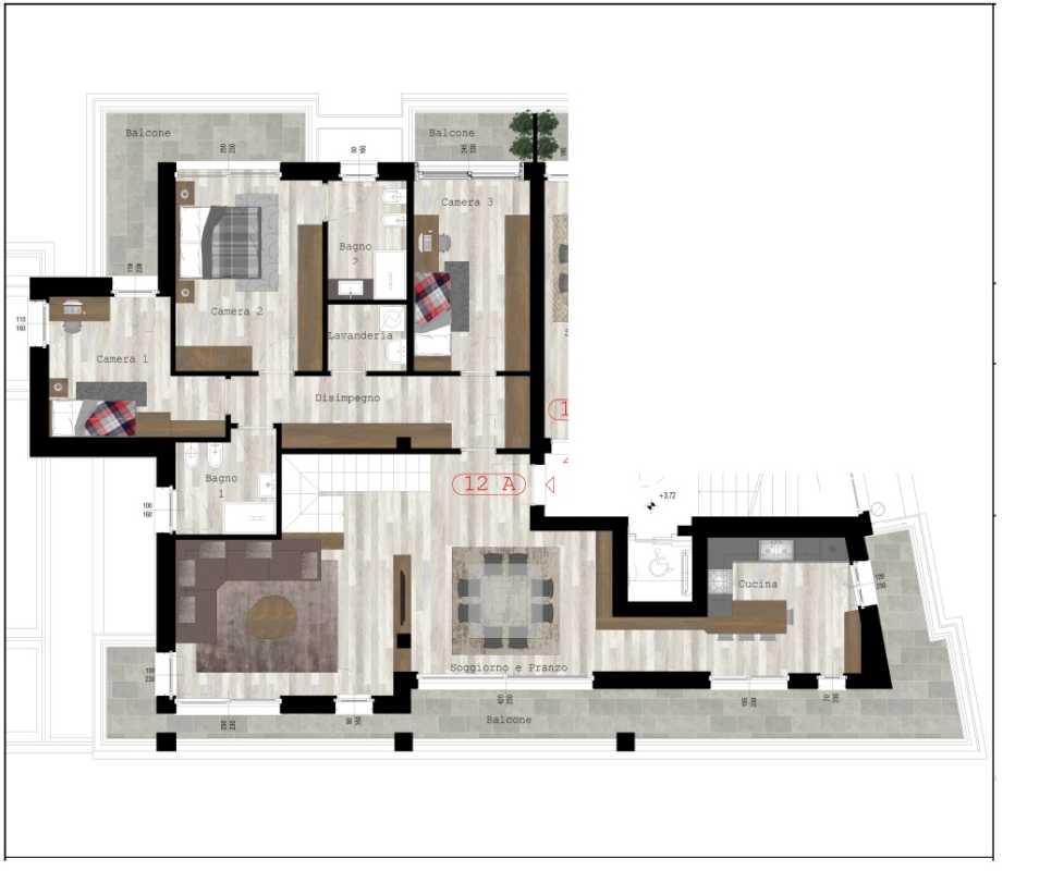 Quadrilocale 12A - sup. commerciale mq 243 - € 1.350.000