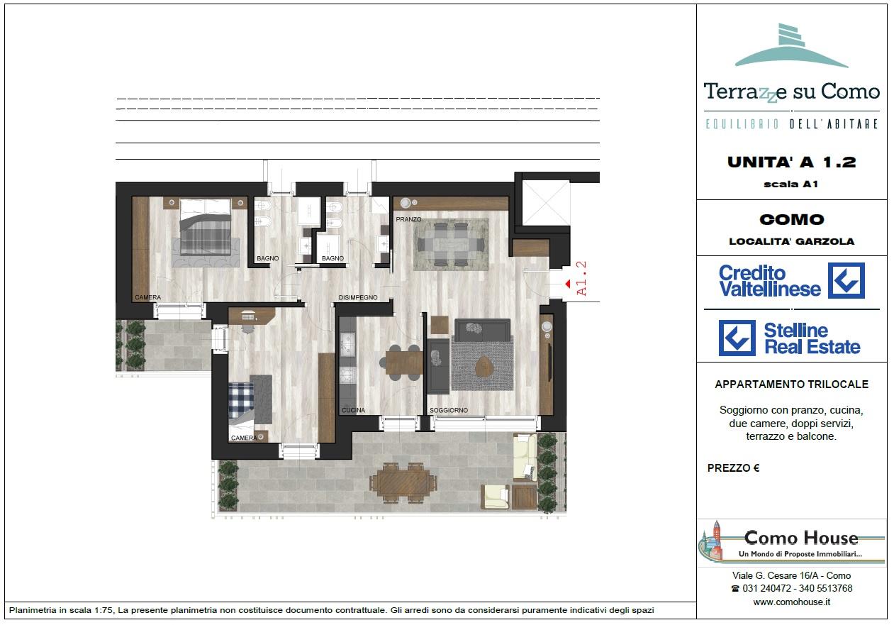Trilocale A1.2 - sup. commerciale mq 152 - € 460.000