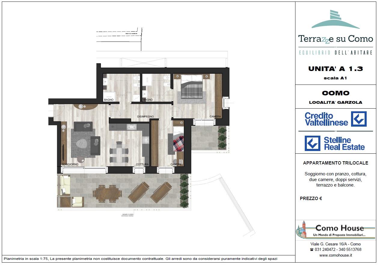 Trilocale A1.3 - sup. commerciale mq 138 - € 450.000