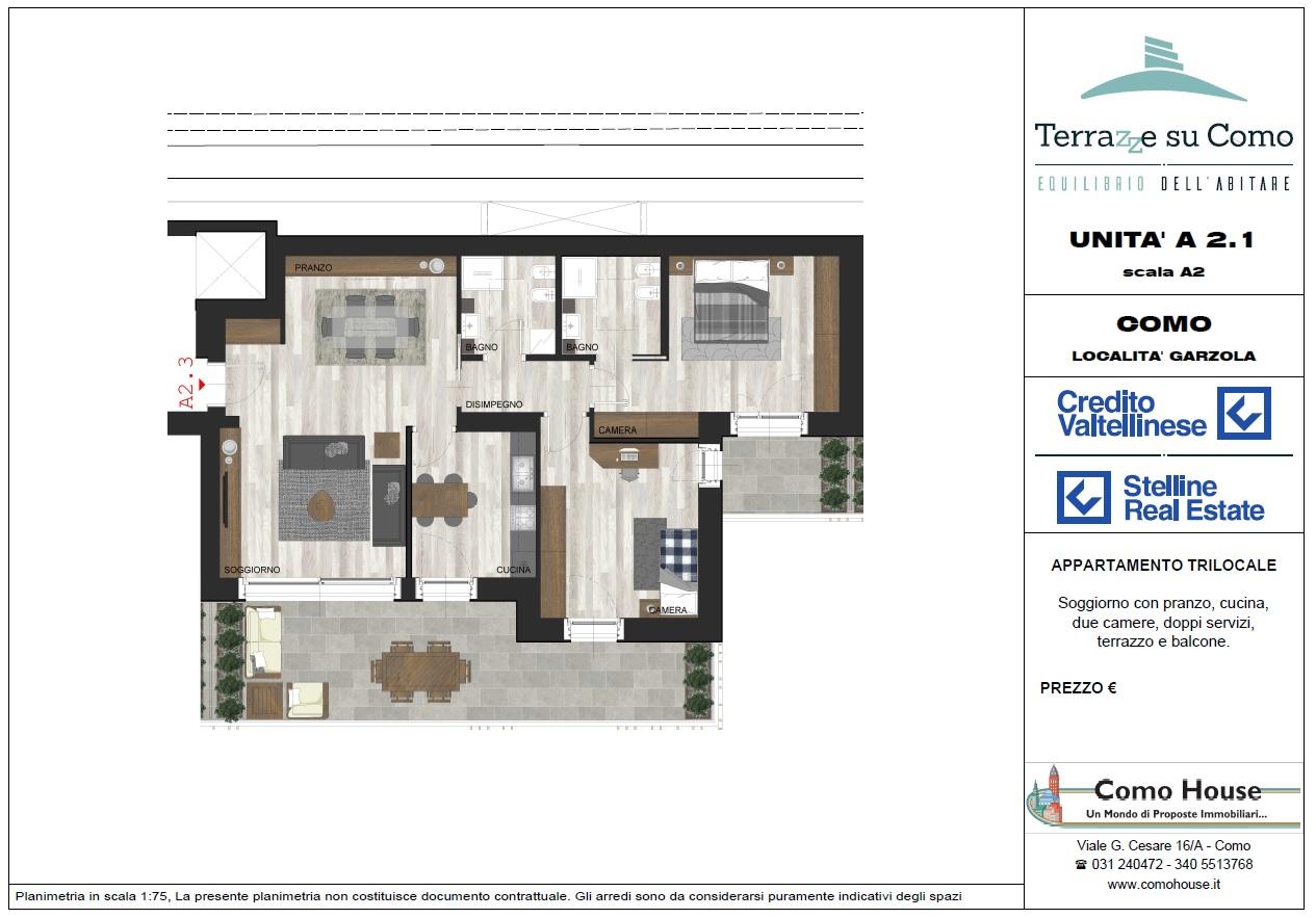 Trilocale A2.1 - sup. commerciale mq 154 - € 460.000