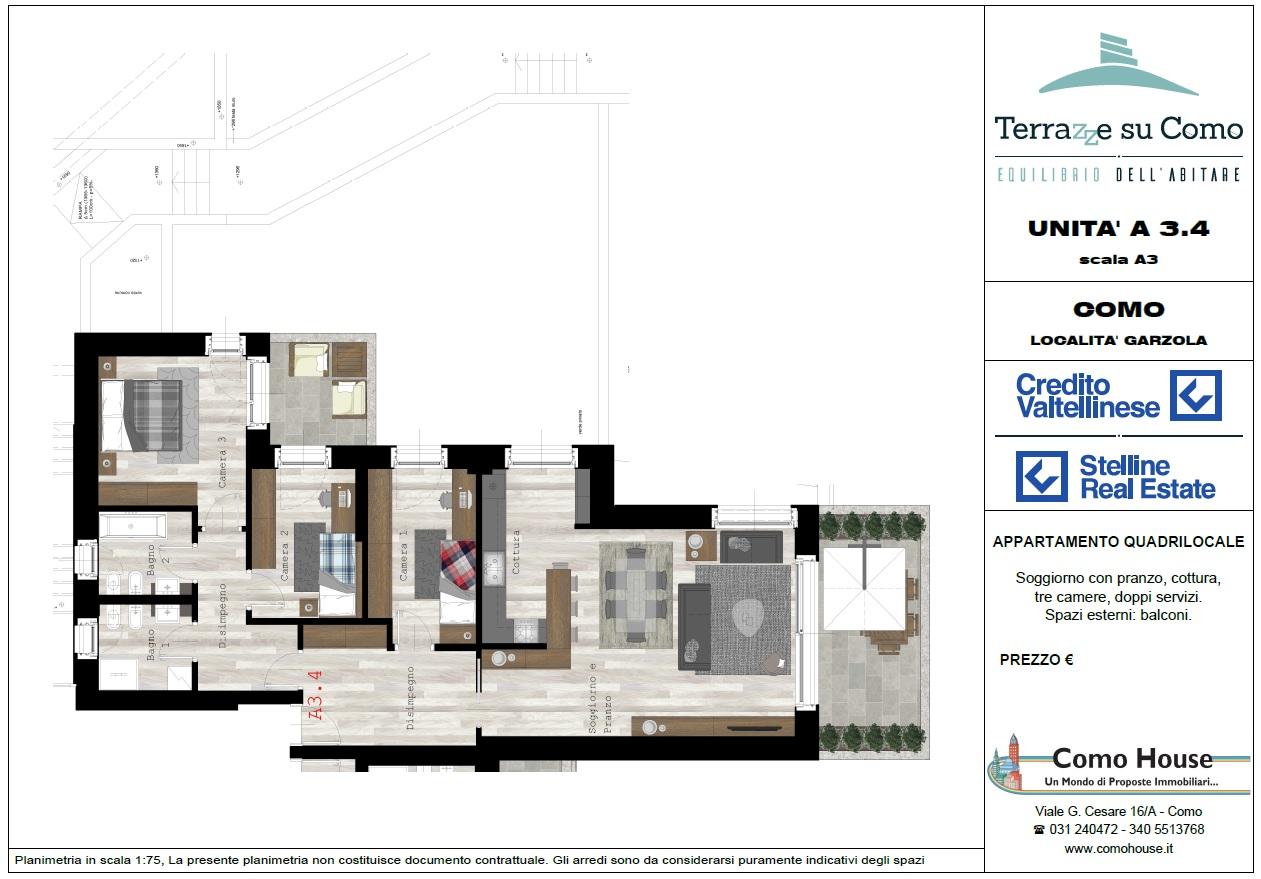 Quadrilocale A3.4 - sup.commerciali mq 161 - € 510.000