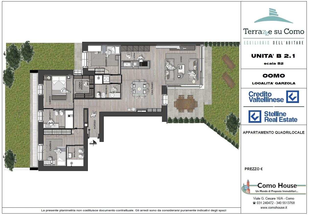 Quadrilocale B2.1 - sup.commerciali mq 190 - € 675.000
