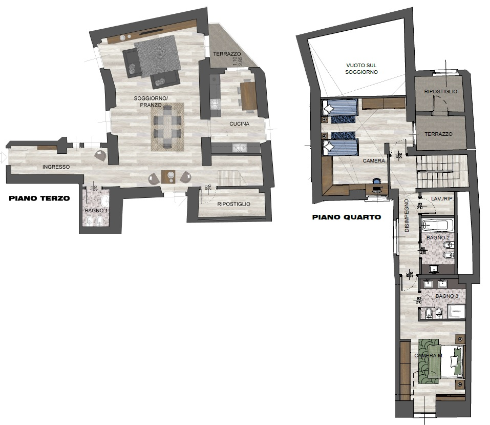 Trilocale C2B - Sup. Comm. 213 mq - 1.080.000 €