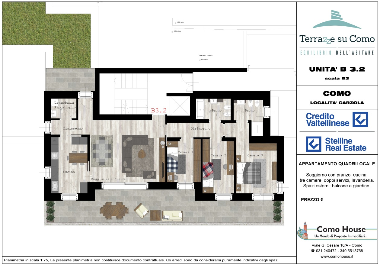 Quadrilocale B3.2 - sup.commerciale mq 194 - € 630.000