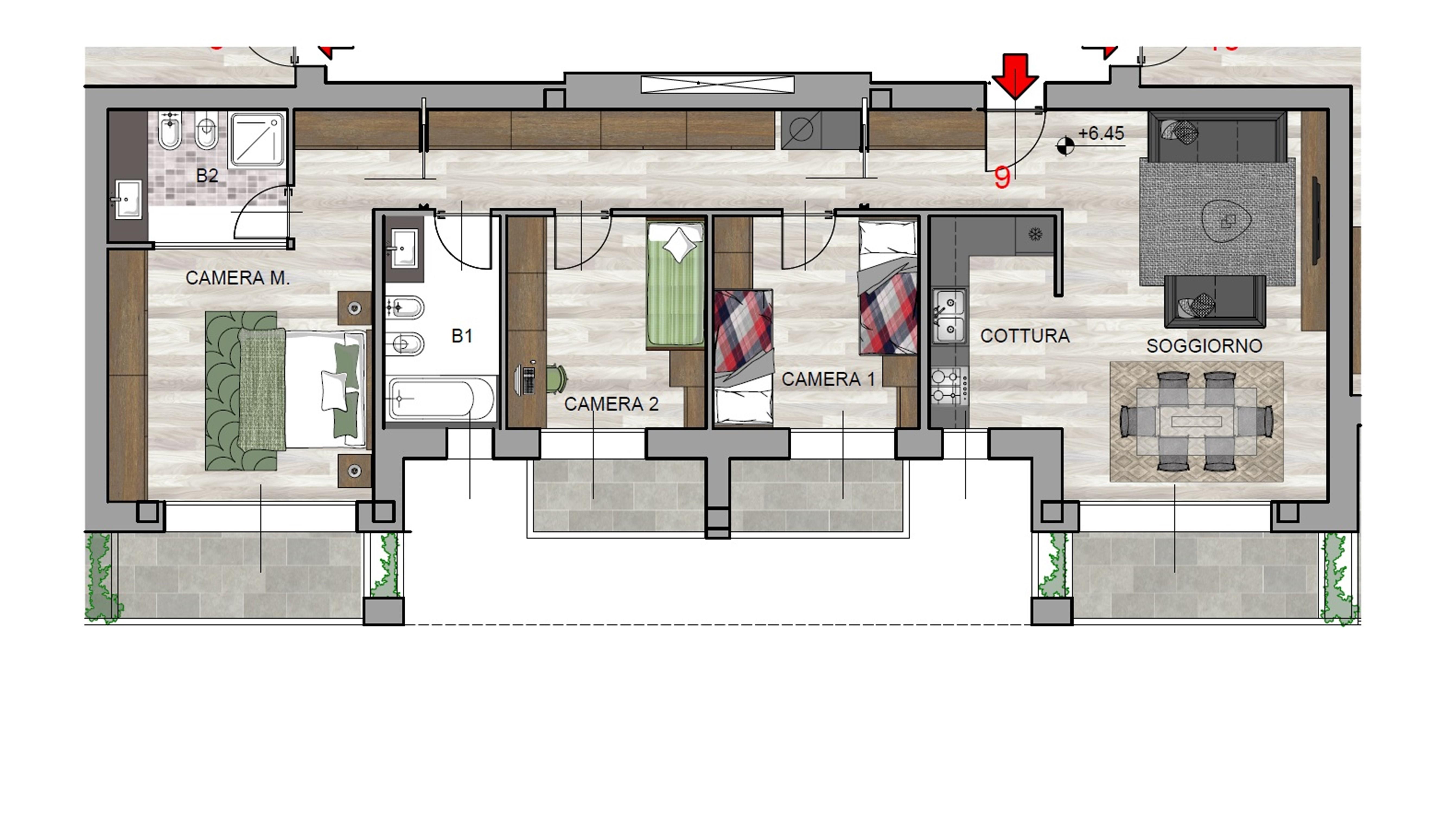 Quadrilocale n°9 Piano Secondo - Sup. Commerciale 134 mq - 325.000