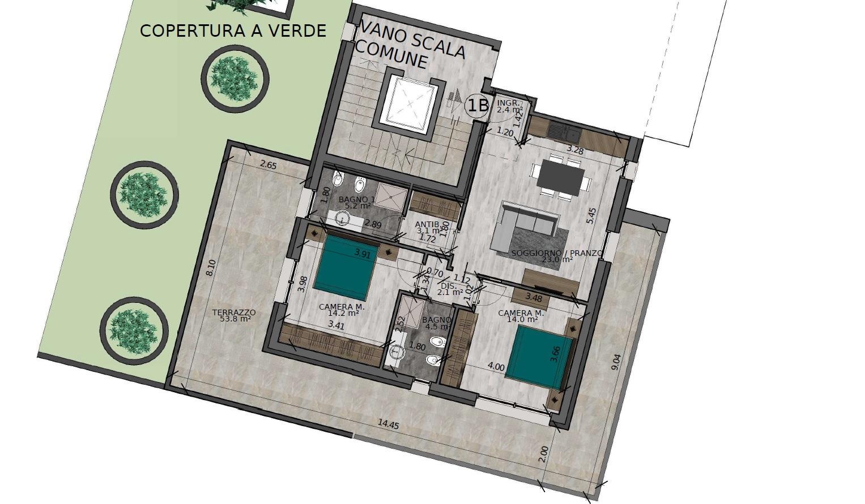 Trilocale 1B Piano Primo (VARIANTE) - Sup. comm. 109 mq - 350.000 €